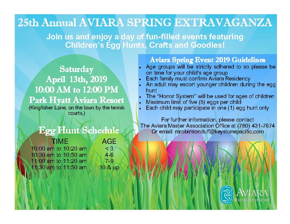 Annual Aviara Spring Extravaganza