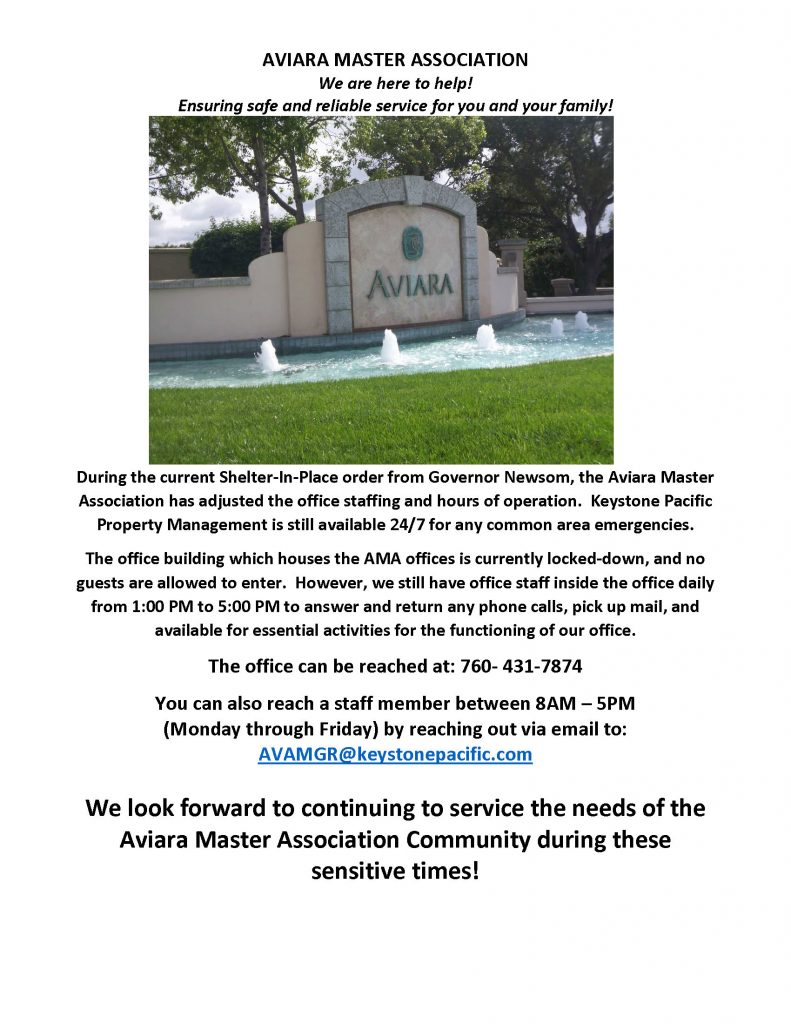 Aviara Office Hours